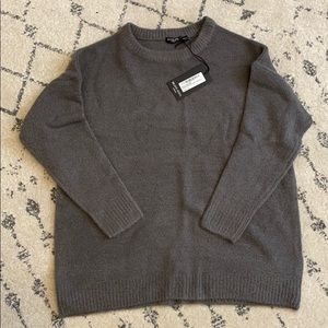 Charcoal oversized slouchy knit sweater - New
